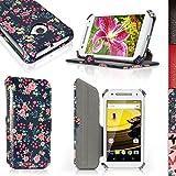 igadgitz u3882Folio Blumen PU Leder Tasche Case Schutzhülle für Motorola Moto E 2. Generation 2015xt1564mit Displayschutzfolie–Pink