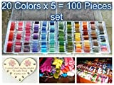 #7: TCL INDIA PART 1 New Range Of Embroidery Threads Cross Stitch By Tclindia 20 Colors 5 Pieces of Total 100 Pieces PART 1