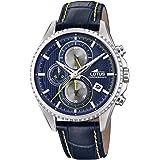 Lotus Watches Homme Chronographe Quartz Montre avec Bracelet en Cuir 18527/3