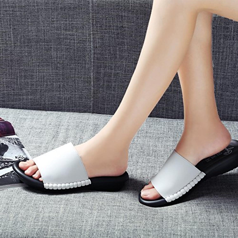 OME&QIUMEI Schuhe Sandalen Hausschuhe Sommer Lady'S Schuhe Eine Frau Tragen Nach Spieß