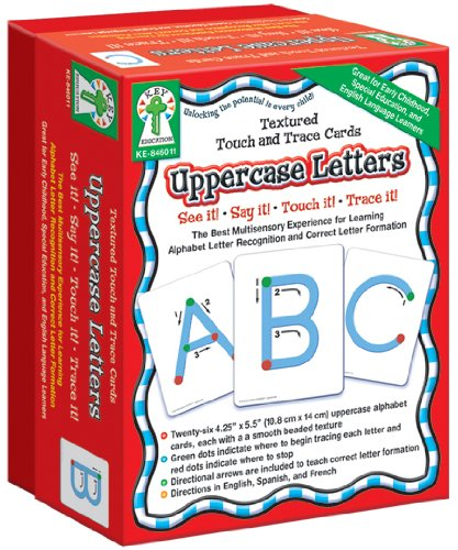 Textured Touch and Trace: Uppercase: The Best Multisensory Experience for Learning Alphabet Letter Recognition and Correct Letter Formation (Textured Touch and Trace Cards)