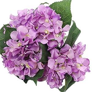 Efivs Arts Ramo de flores artificiales de seda de 45 cm, 7 cabezas grandes, ideal para bodas, habitaciones, hogares, hoteles, fiestas y regalos de vacaciones