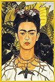 Kahlo, Frida - Jungle - Poster Maxiposter Kunst Grösse 61x91,5 cm + Wechselrahmen, Shinsuke® Maxi Kunststoff Gelb, Acryl-Scheibe