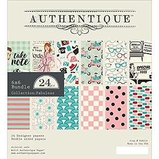 Authentique Paper Double-Sided Cardstock Pad, Multi-Colour, 0.63 x 15.24 x 16.51 cm
