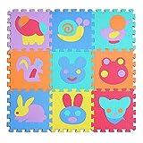 MMRM 9PC 32*32*1 cm 9pc espuma de EVA del animal Transporte Fruit Puzzle alfombra bebé estera de los juegos