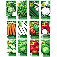 12 varieties | Vegetable seeds Assortment | over 14000 seeds | complete starter set | robust mixture | Just plant your own vegetables at home with our selected quality seeds