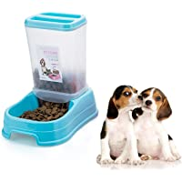 Emily Pets Automatic Drinking Water and Food Dispenser for Dog and Cat-500 ml (Aqua Blue)