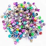 Jewellery - Piercing assortiti per lingua o capezzolo, vari colori e forme