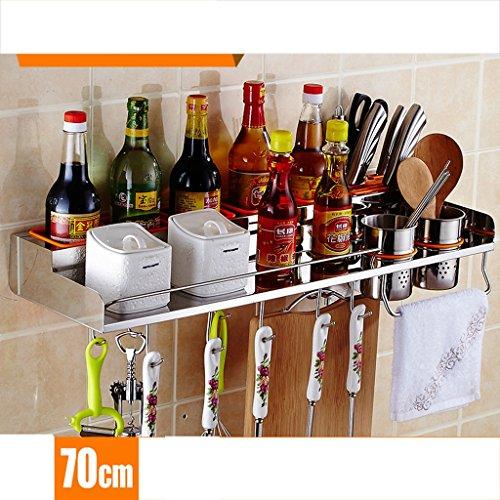 Hyun times Regal Edelstahl Küche Wand montiert Anhänger Küchenartikel ( größe : 70cm ) (Metall-sicherheits-speicher-regal)