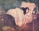 Das Museum Outlet–Lady im Bett von Joseph rippl-ronai, gespannte Leinwand Galerie verpackt. 50,8x 71,1cm