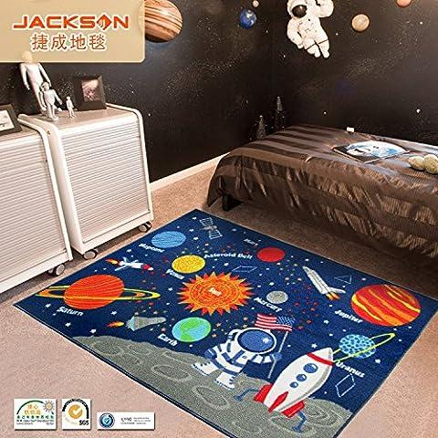 Sala alfombra alfombra dibujos animados planeta galaxia infantil para niños juego de tapetes de alfombra , planet , 100x137cm