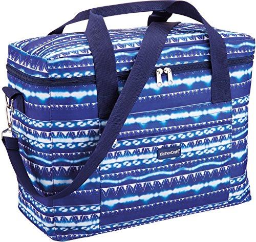 Kitchen Craft We Love Summer Große Familien-kühltasche Mit Batikmuster, Blau/Weiß, M