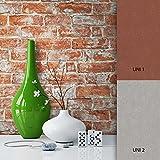 NEWROOM Steintapete Braun Vliestapete Stein Muster/Motiv schöne moderne und edle Design 3D Optik , inklusive Tapezier Ratgeber
