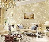Luxus Italienische Seidenstoffe Vintage Decor 3D Floral Wand Papier Blume Tapete für Schlafzimmer Wohnkultur Wohnzimmer Wand Papier 10 * 0,53 mt