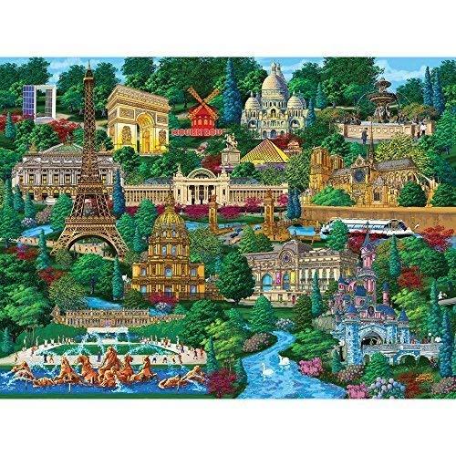 Große Teile Puzzle für Erwachsene Paris Blick auf die Stadt 300 Pc Frankreich Jigsaw von Künstler Joseph Burgess ()