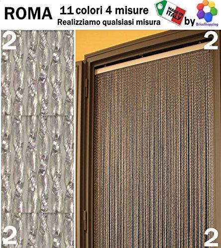 TENDA MOSCHIERA ZANZARIERA PVC ROMA 11 COLORI 4 MISURE MADE IN ITALY By BricoShopping (cm 100x220h, (2) Neutro)