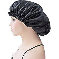 Dehman Extra Large Bonnet Cap for Women, Silk Satin Bonnet Cap for Sleeping, Double Layer, Adjustable Night Hat for…