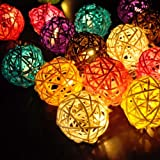 My Party Suppliers Handmade Rattan Ball Lights