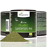Organic Superfood Detox Powder | 17 Organic Superfoods, 200g | Super Greens, Seeds, Fruits & Roots, Inc. Matcha, Spirulina, Wheatgrass, Turmeric, Nettle, Moringa and more | Add to Juices, Smoothies, Baking and Cooking | Vegan & Vegetarian by Vegavero