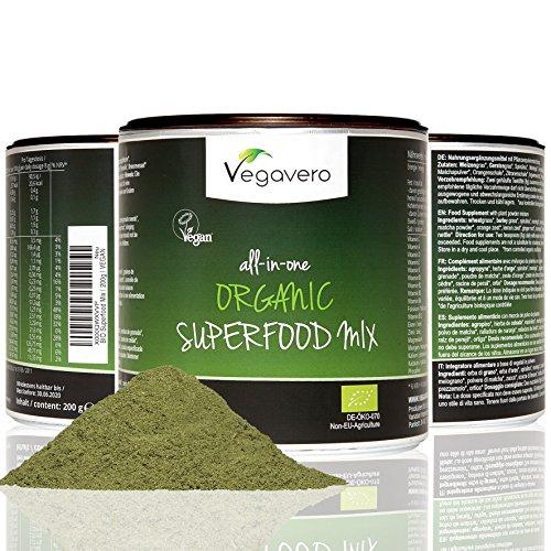 BIO Superfood Mix | 200g | Schadstoff-geprüft | 17 Superfoods | OHNE Zusatzstoffe | Vegan | Vegavero: from Nature - with Passion - for You! (Superfood Bio)