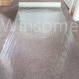 Winsome®, pellicola protettiva trasparente per moquette, pavimento, pellicola autoadesiva, protezione temporanea, impermeabile, antipolvere