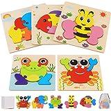 Puzzles de Madera de Animales Niños 2 3 4 5 Años, Juguetes Bebes Montessori Puzzles Infantiles Educativos Rompecabezas Juegos