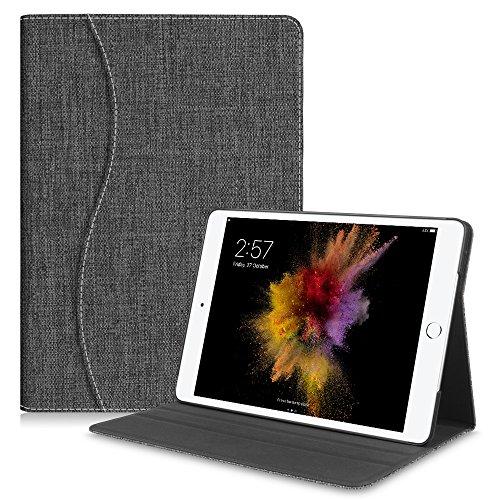 Fintie iPad 201724,6cm/iPad Air 2/iPad Air Folio Fall mit Pocket Denim Charcoal (Fintie Apple Ipad Folio Fall)