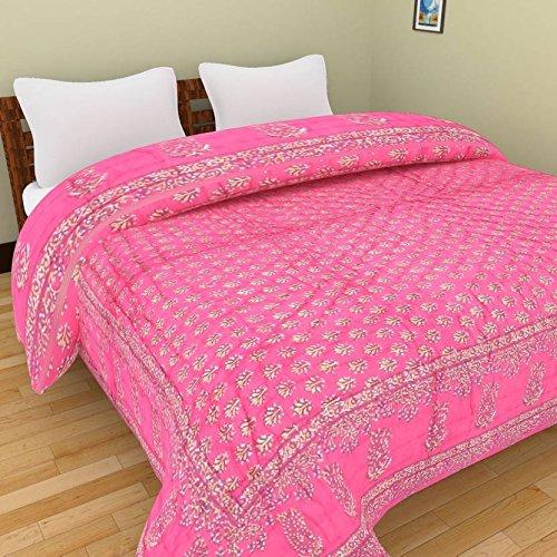 Rajkruti Jaipuri Razai / Rajai Double Bed Cotton Rajasthani Sanganeri Floral Print...