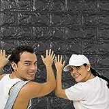 Saingace Wandaufkleber Wandtattoo Wandsticker,PE-Schaum 3D-Tapete DIY Wand-Aufkleber-Wand-Dekor prägeartiger Ziegelstein-Stein (Grau)
