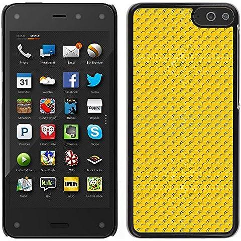 MDMG/-Cover rigida a scatto, con pellicola protettiva, colore: giallo a pois-Amazon Fire Phone
