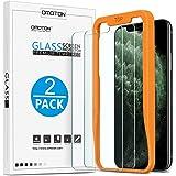 【2-Pack】OMOTON Protector Pantalla para iPhone x/ iPhone xs/ iPhone 11 pro, Cristal Tempaldo Anti-arañazos Alta Definición, 【c