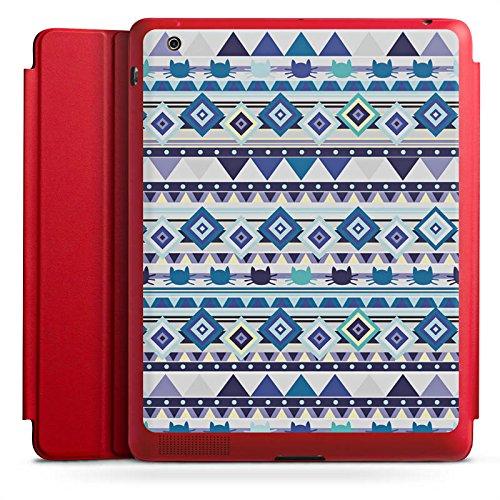 DeinDesign Apple iPad 4 Smart Case Hülle Tasche mit Ständer Smart Cover Tribal Katze Muster