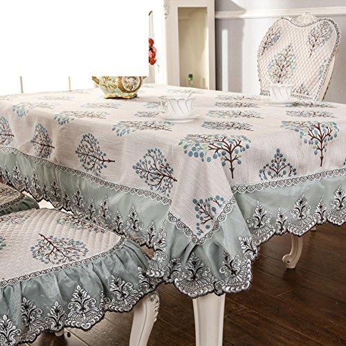 Européen nappe Coton en lin dentelle rectangulaire table de thé dome maison-B 130x130cm(51x51inch)