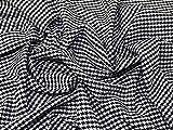 Hahnentritt Polyester, Viskose & Spandex Stretch passend