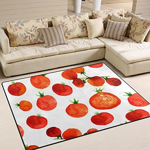 JSTEL ingbags Super Weich Moderner Rot Fruit, EIN Wohnzimmer Teppiche Teppich Schlafzimmer Teppich für Kinder Play massiv Home Decorator Boden Teppich und Teppiche 160x 121,9cm, Multi, 63 x 48 Inch Fruit Decorator