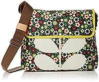 Orla Kiely Women's Flower Bloom Canvas Medium Messenger Messenger Bag Multicolour (Multi)