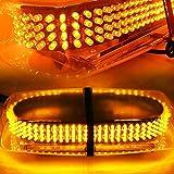 AMBOTHER Lumière d'Avertissement 240-LEDs Lampes Stroboscopiques Strobe Light Risque Police, Montage sur Toit avec Base Magnétique 12V Imperméable à l'eau