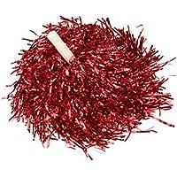 Ayozen - Juego de 2 pompones con asa recta (0,025 kg) rojo rosso