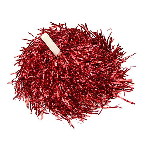 HOTER® Collection 1 Paar Gerade Hand Shank Cheerleader Pompons, Preis/2 St¨¹ck, 0.025 kg/St¨¹ck, 6 Farben - rot