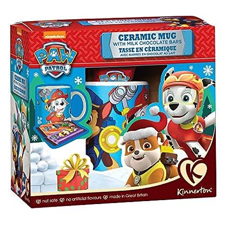 Paw Patrol Kakaotasse gefüllt mit 2 Paw Patrol Schokoriegeln in Geschenkbox (Porzellan Spielzeug)