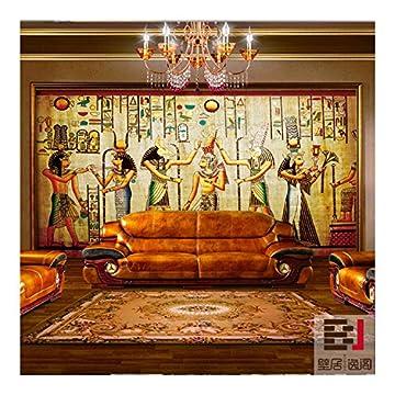 Aolomp Wallpaper Custom Retro Grandes Murales Personas Faraón De Egipto Wallpaper Ktv Bar Cafetería Pirámide Papel Tapiz Personalizado 7