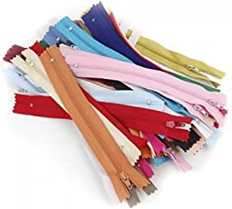 Sungpunet50 Stück 20 cm Nylon Coil Reißverschlüsse für Tailor Nähen Craft Werkzeug zufällige Farbe