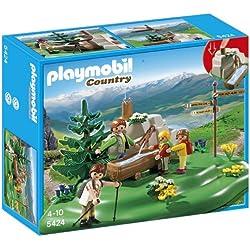 Playmobil Vida en la Montaña - Familia mochilera en la montaña (5424)