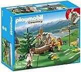 Playmobil Vida en la Montaña - Familia mochilera en la montaña...