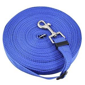 DIGIFLEX Laisse pour dressage de chiens avec une corde bleue de 50ft de longueur