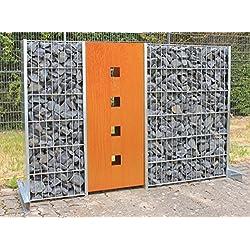 Geiger Clôture en gabions Clôture acier Corten - Hauteur 1200/Largeur 500mm/1élément