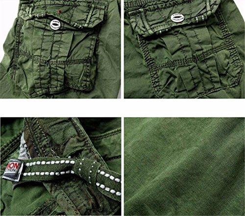 Uomini Stile Occidentale Pantaloni Corti Breve Cargo Combattimento Generale Casuale Pantaloncini Estivi Army Green