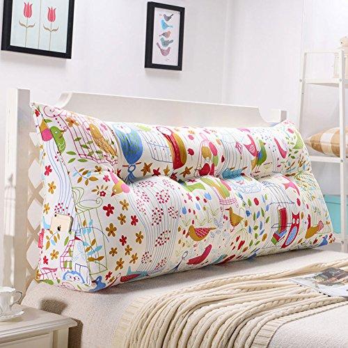 Jiaqi pp-cotone b & b resto cuscino,cuscino di supporto posteriore,tatami cuscino a triangolo estraibile e lavabile proteggere la vita schiena disegno della tasca-k 90x20x50cm(35x8x20)