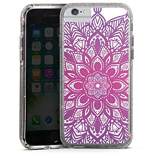 Apple iPhone 7 Bumper Hülle Bumper Case Glitzer Hülle Mandala Sommer Summer Bumper Case Glitzer rose gold