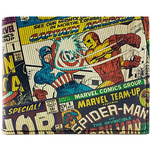 Marvel Avengers Strukturierte Comic-Art Mehrfarbig Portemonnaie Geldbörse (Antman Und Wasp Kostüme)